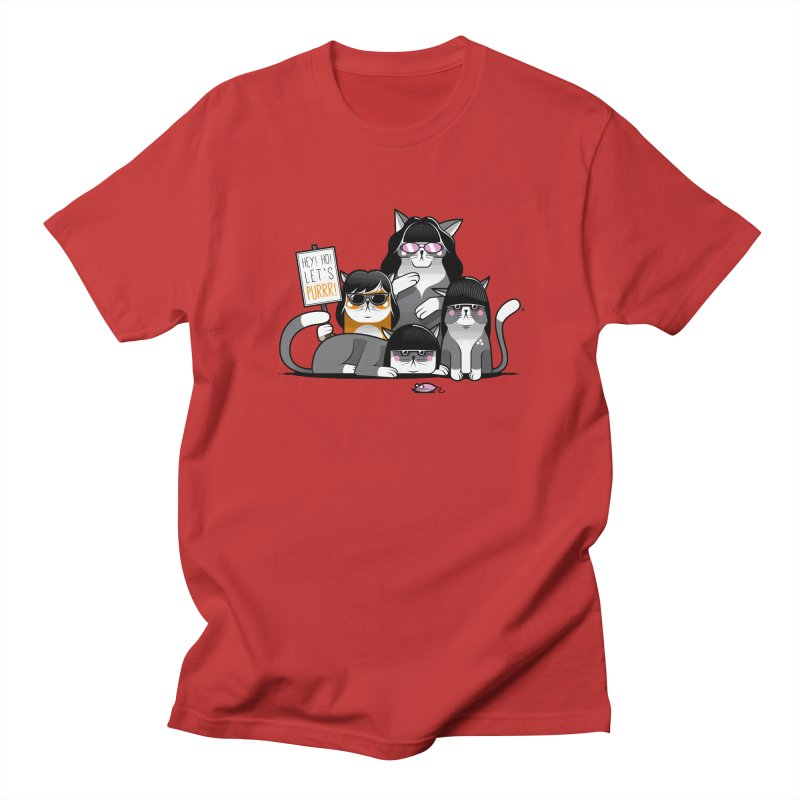 Let's Purrr Men's Regular T-Shirt by marcelocamacho's Artist Shop