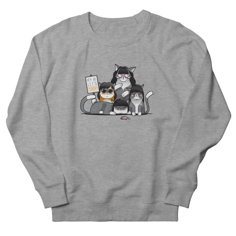 Let's Purrr Women's French Terry Sweatshirt by marcelocamacho's Artist Shop