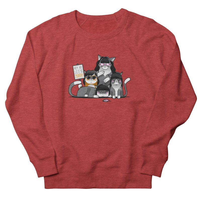 Let's Purrr Men's French Terry Sweatshirt by marcelocamacho's Artist Shop