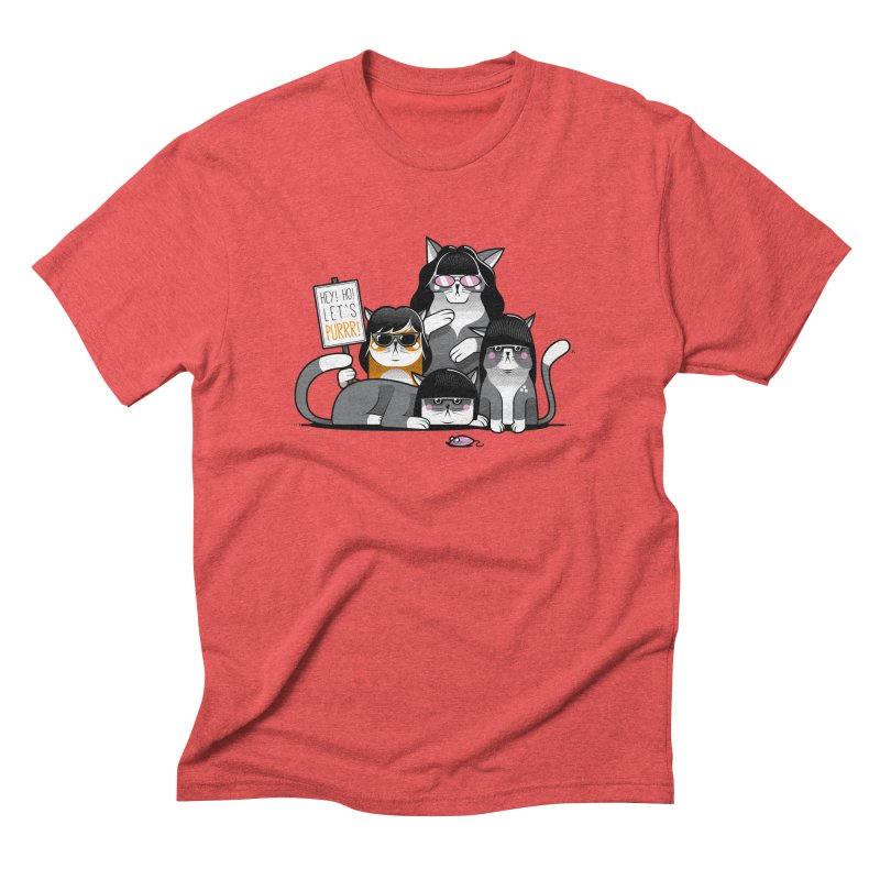 Let's Purrr Men's Triblend T-shirt by marcelocamacho's Artist Shop
