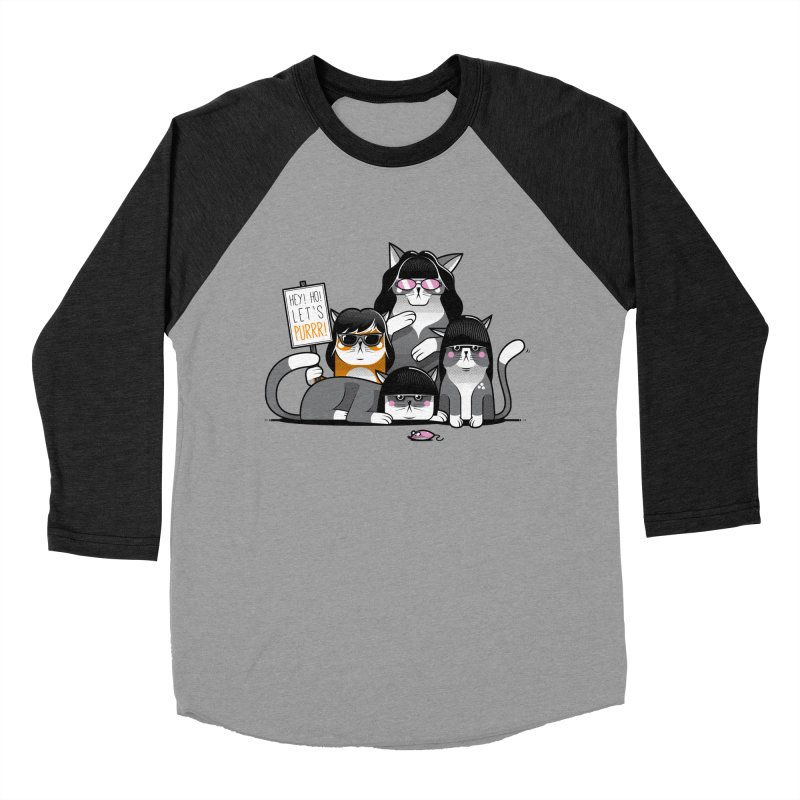 Let's Purrr Women's Baseball Triblend T-Shirt by marcelocamacho's Artist Shop