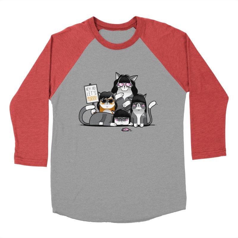 Let's Purrr Men's Baseball Triblend T-Shirt by marcelocamacho's Artist Shop