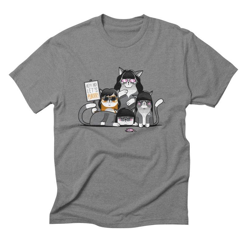 Let's Purrr Men's Triblend T-shirt by marcelocamacho's Artist Shop