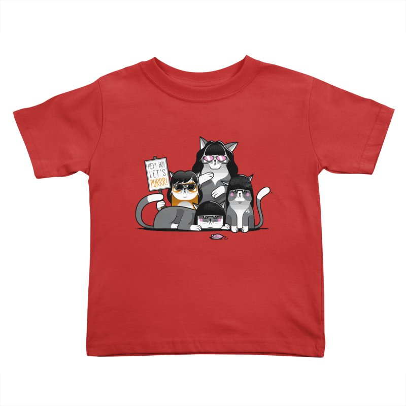Let's Purrr Kids Toddler T-Shirt by marcelocamacho's Artist Shop