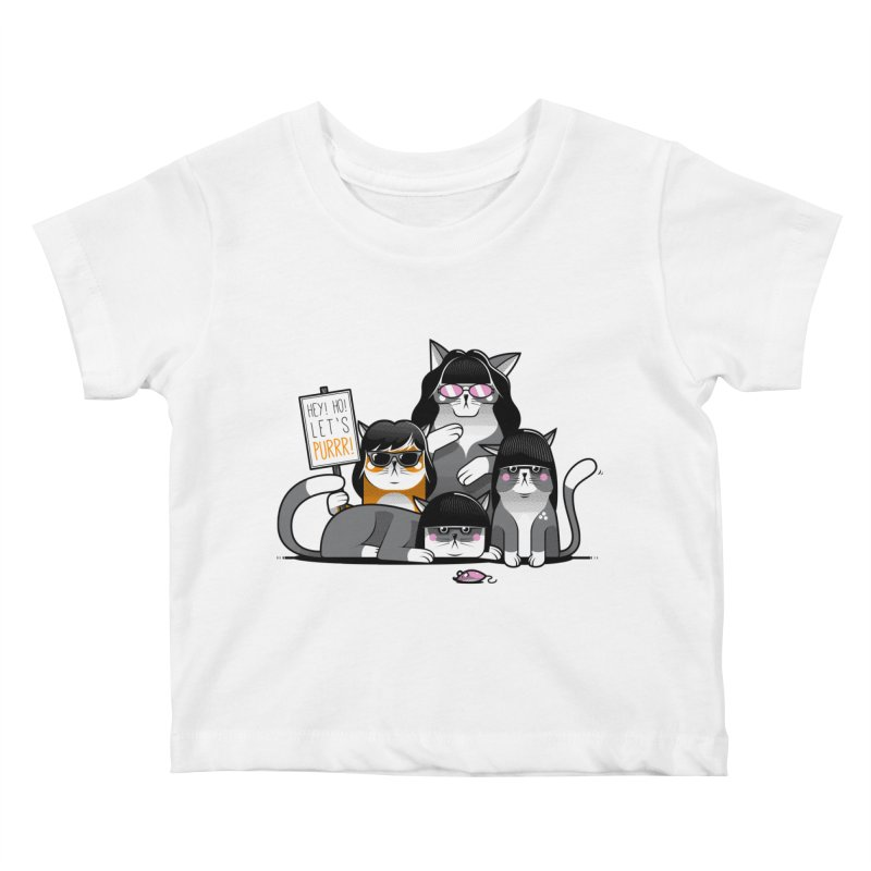 Let's Purrr Kids Baby T-Shirt by marcelocamacho's Artist Shop