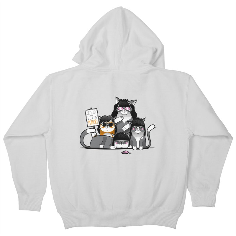 Let's Purrr Kids Zip-Up Hoody by marcelocamacho's Artist Shop