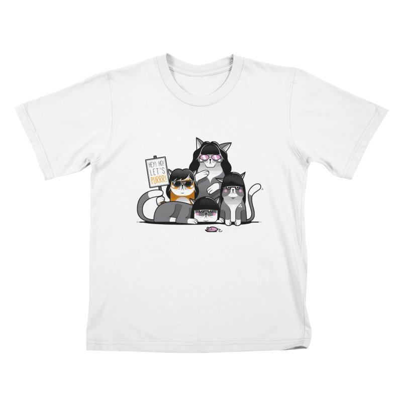 Let's Purrr Kids T-Shirt by marcelocamacho's Artist Shop