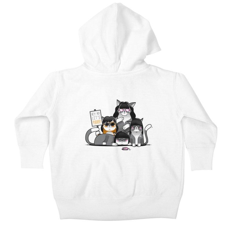 Let's Purrr Kids Baby Zip-Up Hoody by marcelocamacho's Artist Shop
