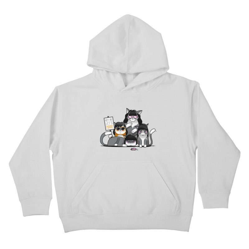 Let's Purrr Kids Pullover Hoody by marcelocamacho's Artist Shop