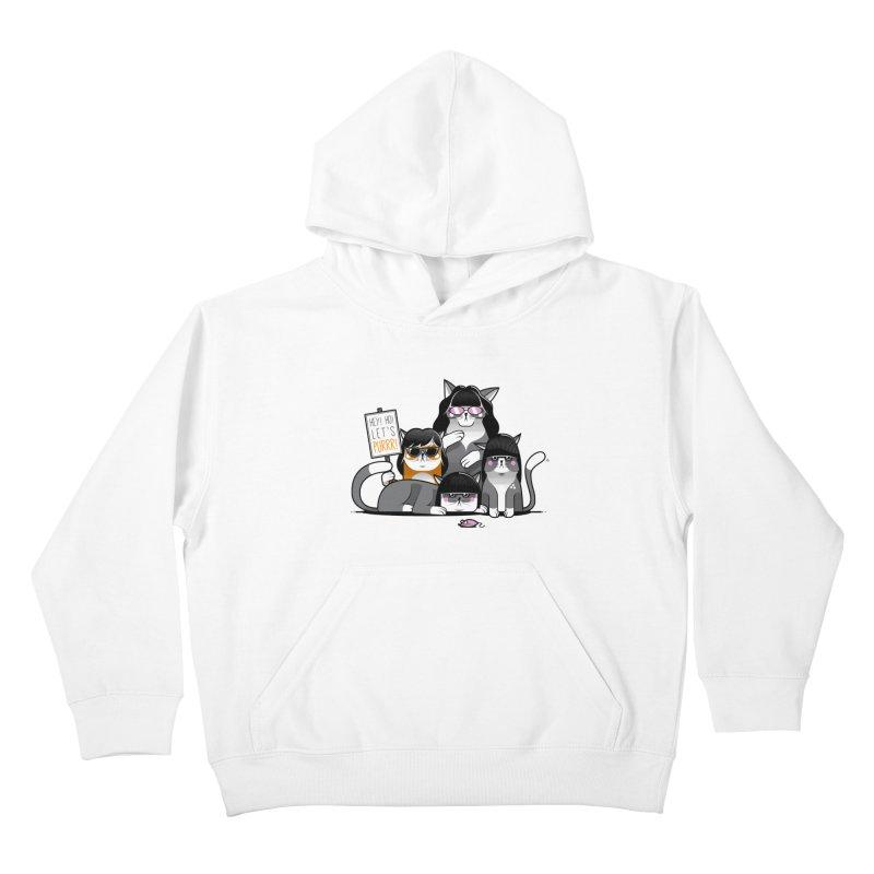 Let's Purrr Kids Pullover Hoody by marcelocamacho's Artist Shop