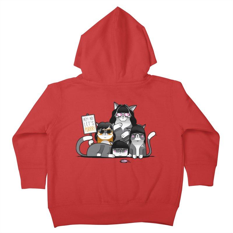 Let's Purrr Kids Toddler Zip-Up Hoody by marcelocamacho's Artist Shop
