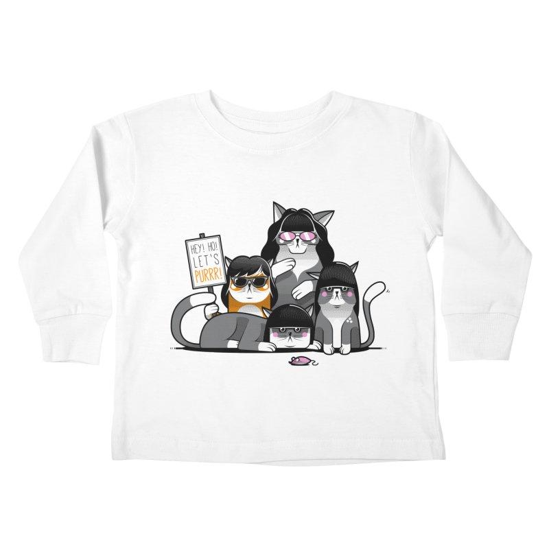 Let's Purrr Kids Toddler Longsleeve T-Shirt by marcelocamacho's Artist Shop