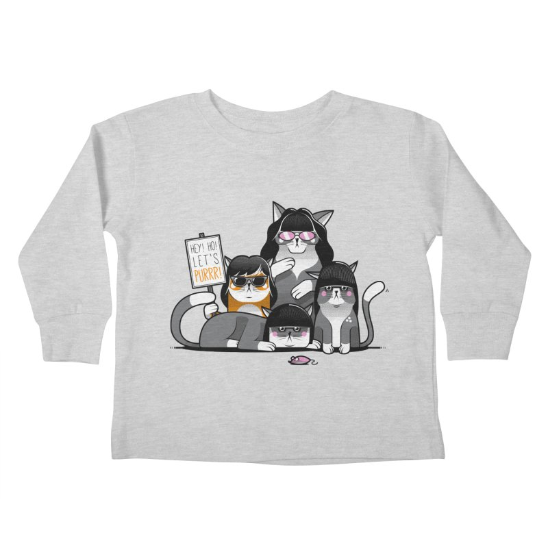 Let's Purrr Kids Toddler Longsleeve T-Shirt by marcelocamacho's Artist Shop