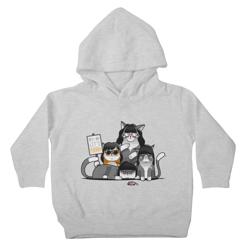 Let's Purrr Kids Toddler Pullover Hoody by marcelocamacho's Artist Shop