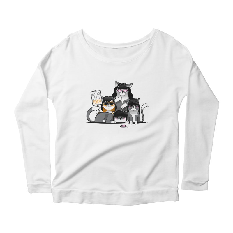 Let's Purrr Women's Scoop Neck Longsleeve T-Shirt by marcelocamacho's Artist Shop