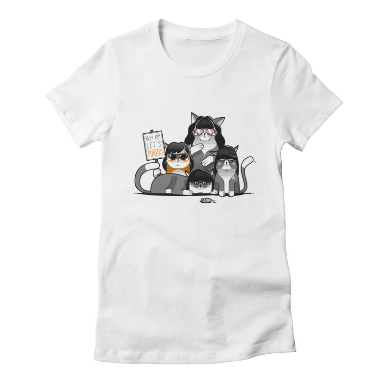 Let's Purrr Women's Fitted T-Shirt by marcelocamacho's Artist Shop