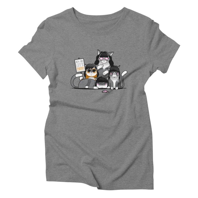Let's Purrr Women's Triblend T-Shirt by marcelocamacho's Artist Shop