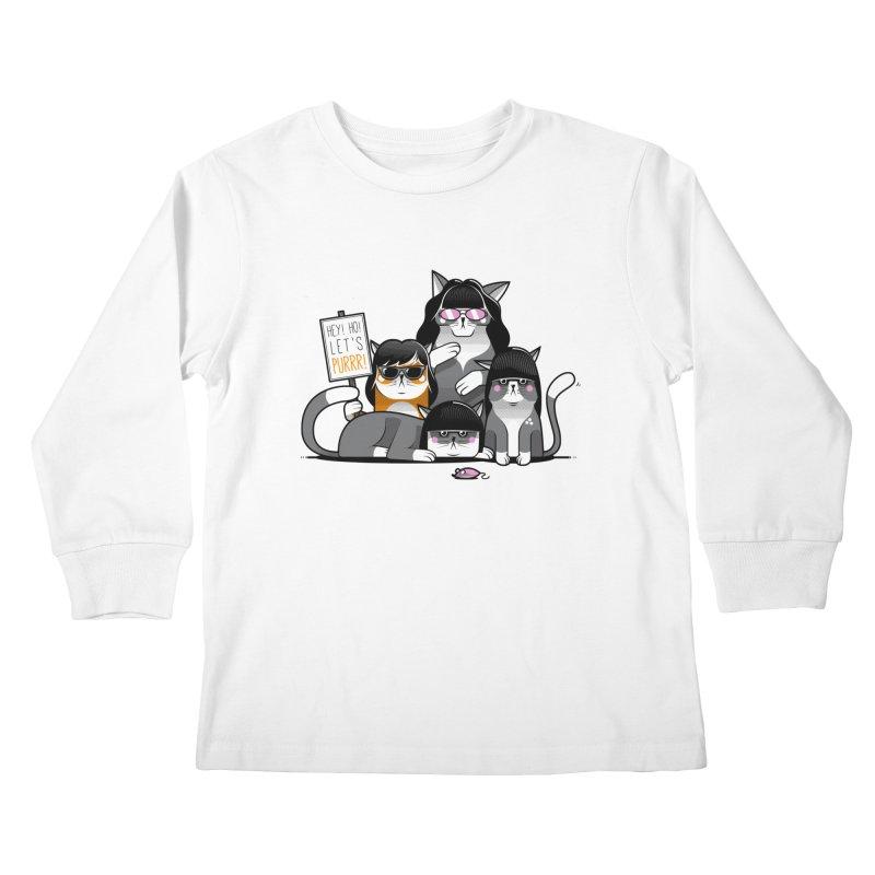 Let's Purrr Kids Longsleeve T-Shirt by marcelocamacho's Artist Shop