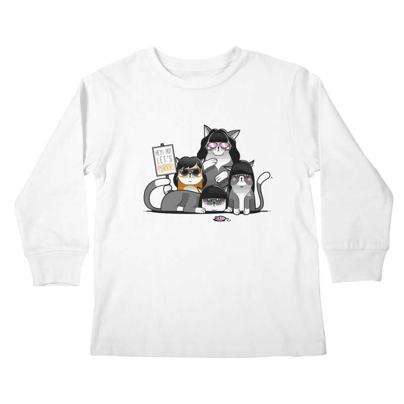 Let's Purrr Kids Longsleeve T-Shirt by marcelocamacho's Artist Shop