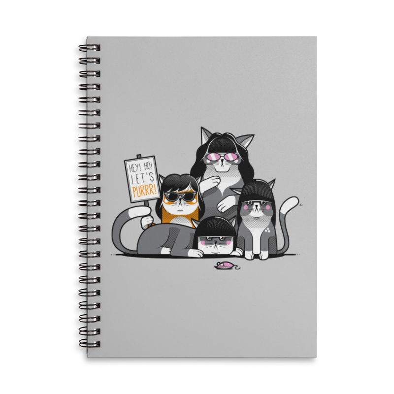 Let's Purrr Accessories Lined Spiral Notebook by marcelocamacho's Artist Shop