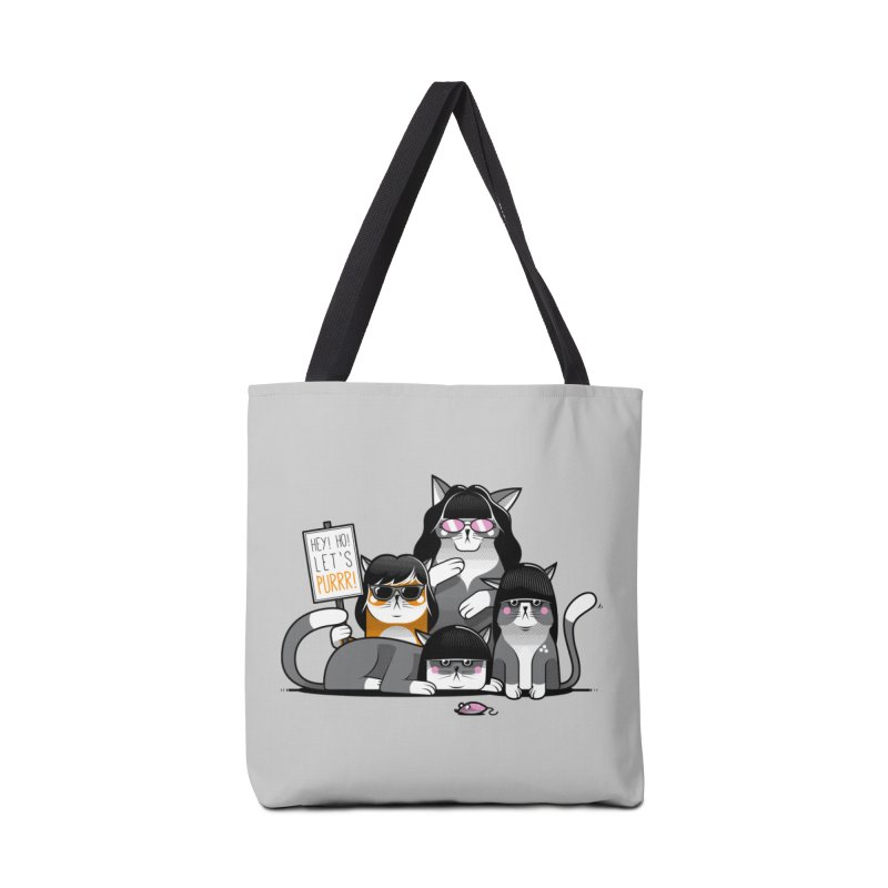 Let's Purrr Accessories Tote Bag Bag by marcelocamacho's Artist Shop