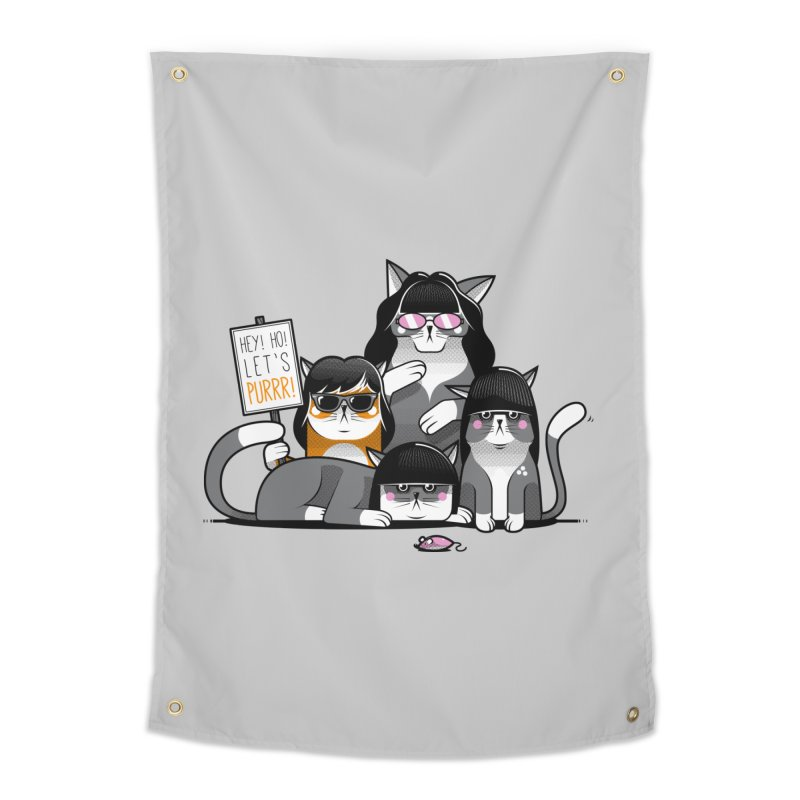 Let's Purrr Home Tapestry by marcelocamacho's Artist Shop