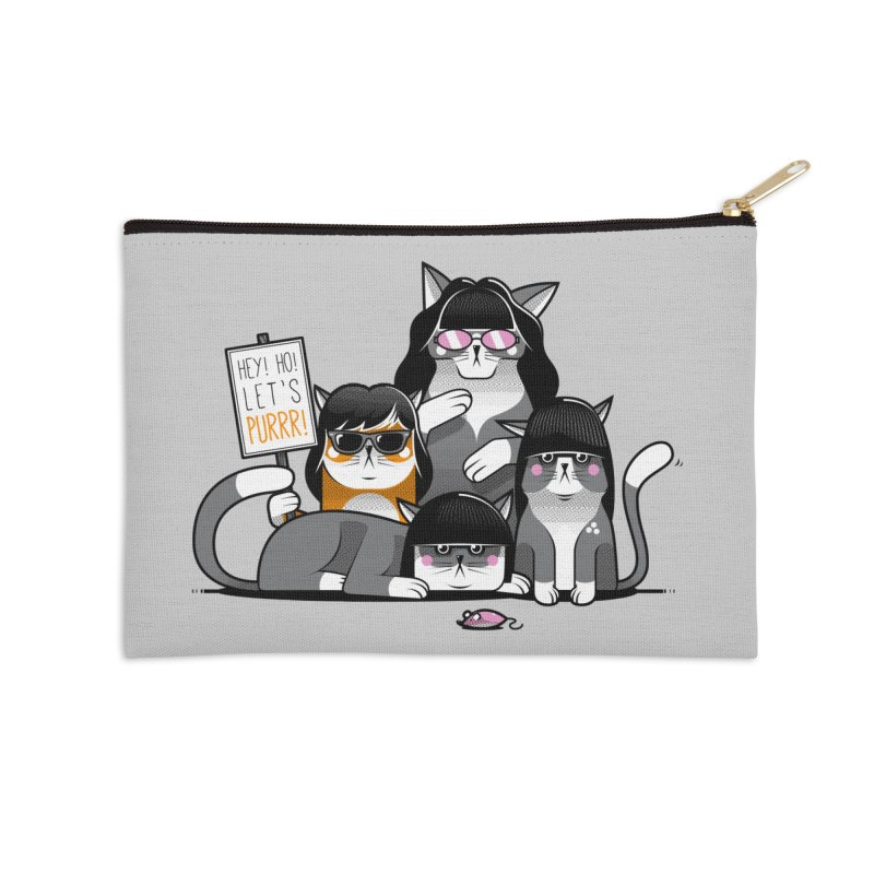 Let's Purrr Accessories Zip Pouch by marcelocamacho's Artist Shop