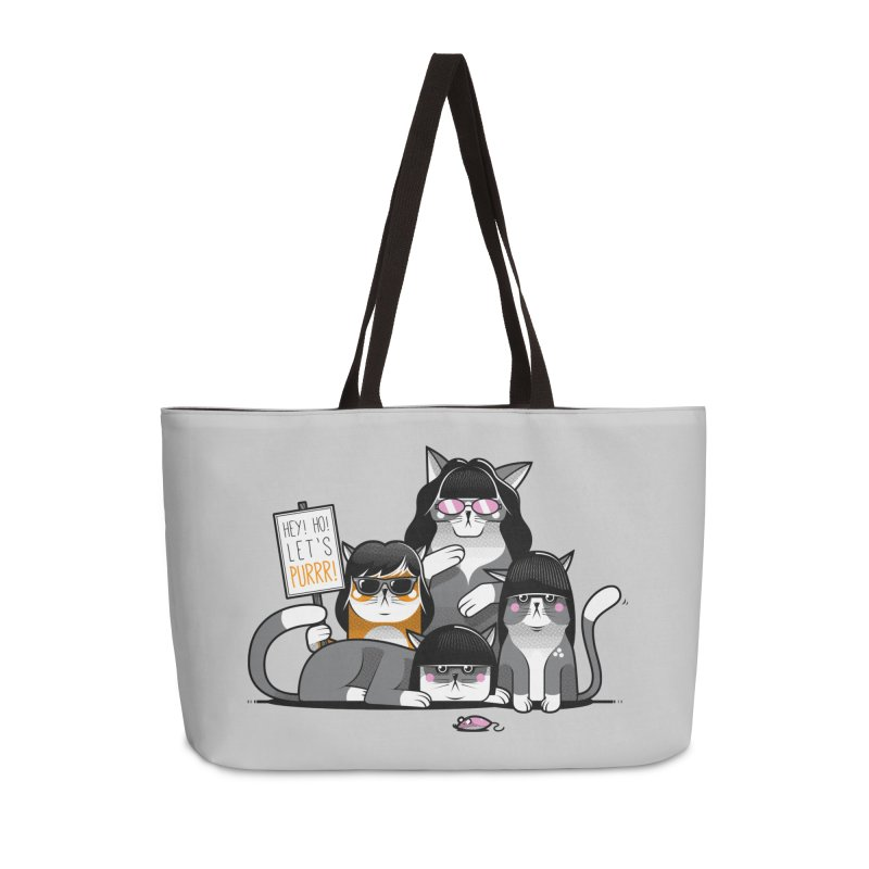 Let's Purrr Accessories Weekender Bag Bag by marcelocamacho's Artist Shop