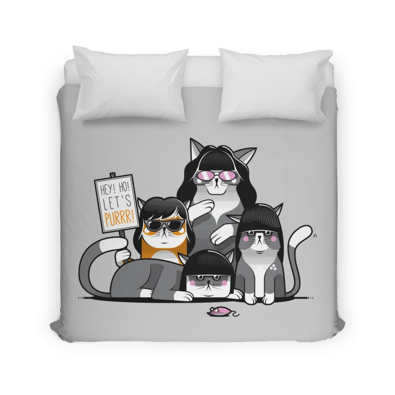 Let's Purrr Home Duvet by marcelocamacho's Artist Shop