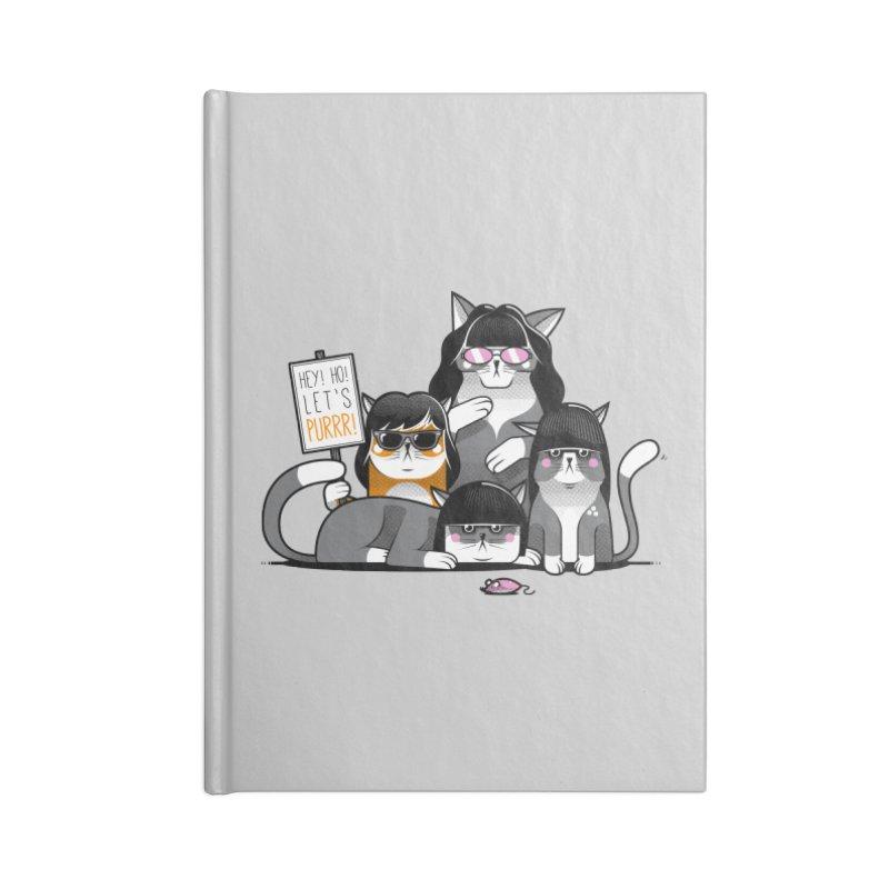 Let's Purrr Accessories Blank Journal Notebook by marcelocamacho's Artist Shop