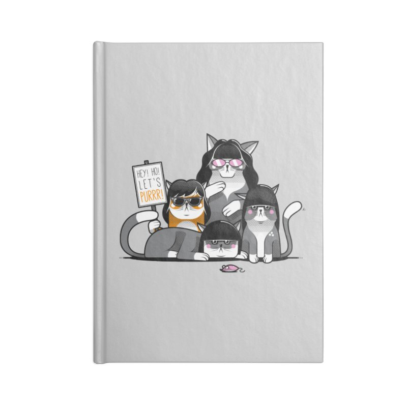 Let's Purrr Accessories Lined Journal Notebook by marcelocamacho's Artist Shop