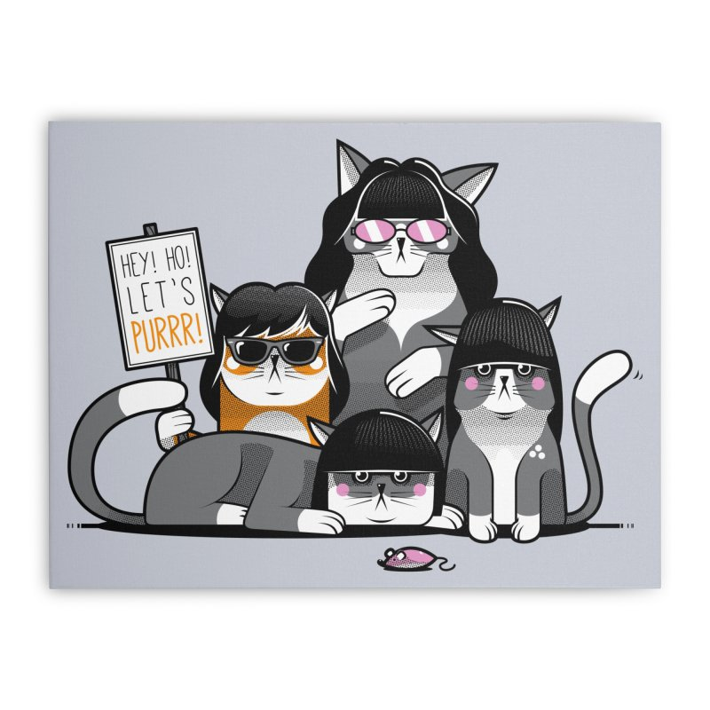 Let's Purrr Home Stretched Canvas by marcelocamacho's Artist Shop