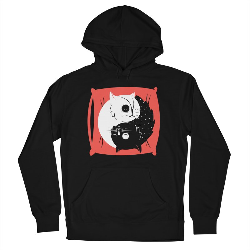 Zen cats Men's French Terry Pullover Hoody by marcelocamacho's Artist Shop