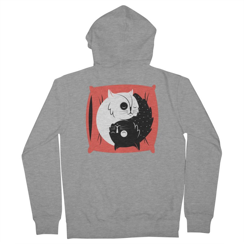 Zen cats Men's French Terry Zip-Up Hoody by marcelocamacho's Artist Shop