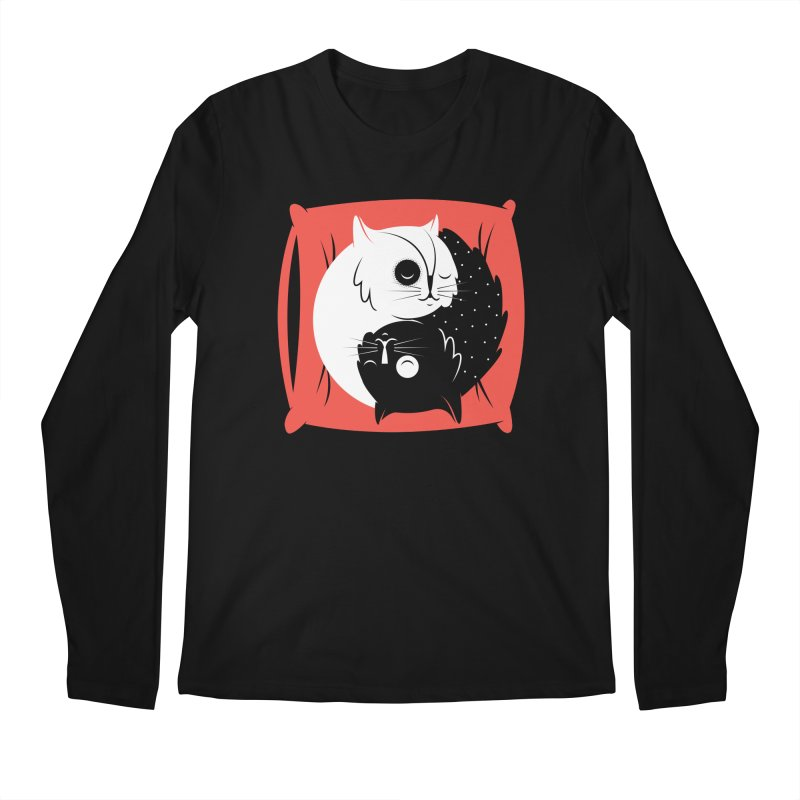 Zen cats Men's Longsleeve T-Shirt by marcelocamacho's Artist Shop