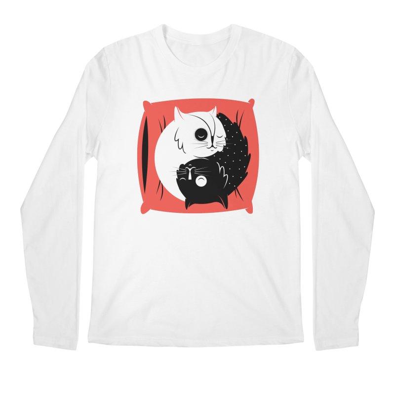 Zen cats Men's Regular Longsleeve T-Shirt by marcelocamacho's Artist Shop