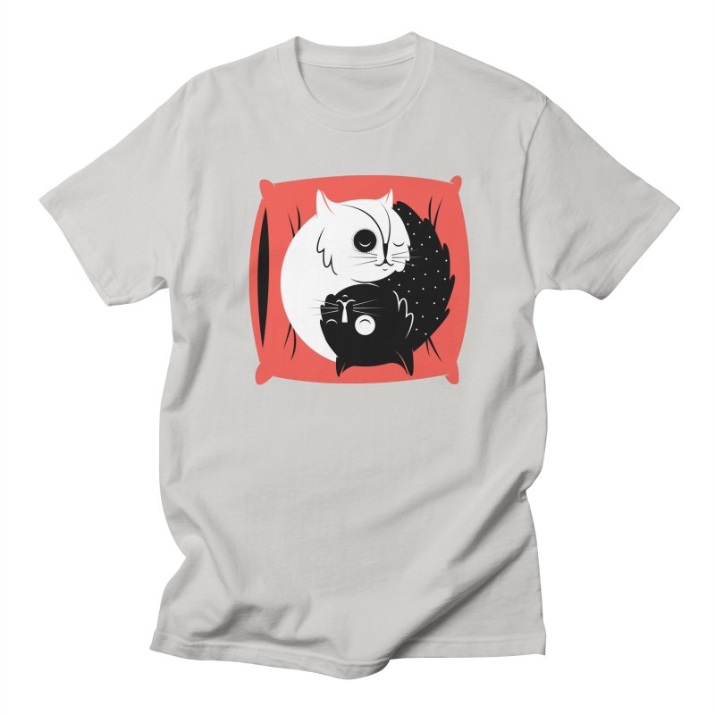 Zen cats Men's Regular T-Shirt by marcelocamacho's Artist Shop