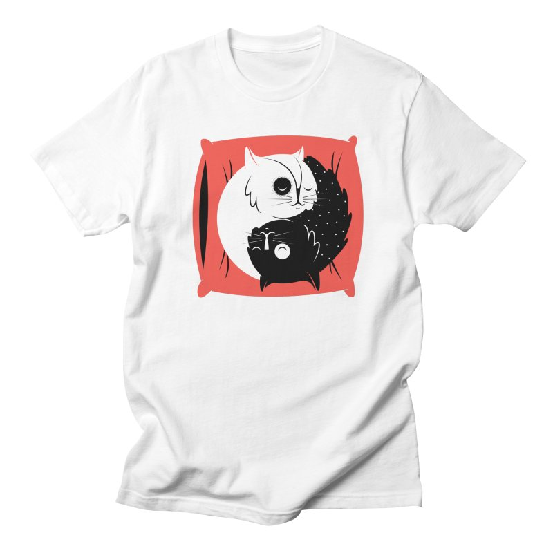 Zen cats Women's Regular Unisex T-Shirt by marcelocamacho's Artist Shop