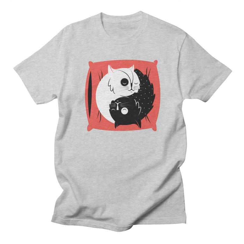 Zen cats Women's Regular Unisex T-Shirt by marcelocamacho's Artist Shop