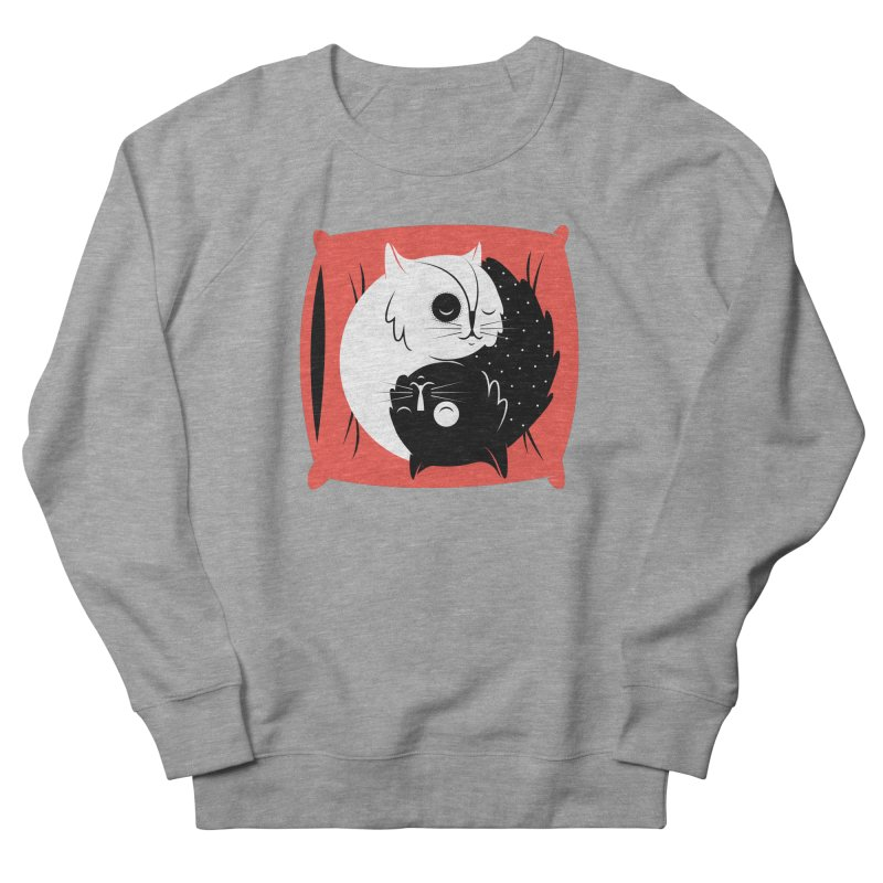 Zen cats Men's French Terry Sweatshirt by marcelocamacho's Artist Shop
