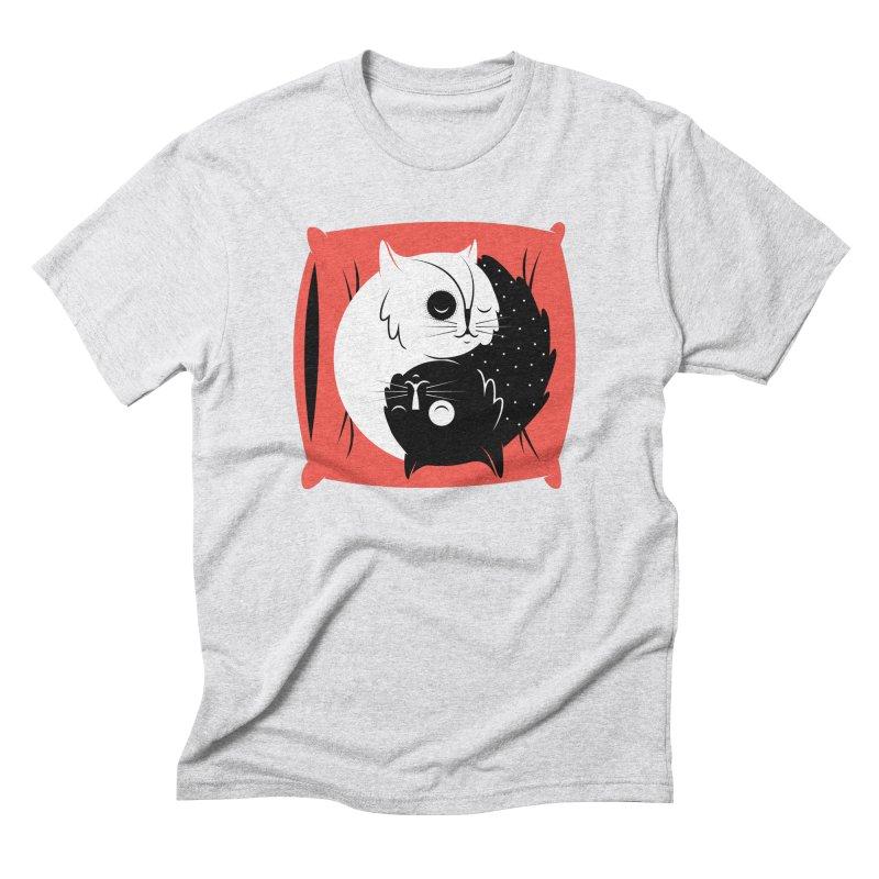 Zen cats Men's Triblend T-Shirt by marcelocamacho's Artist Shop