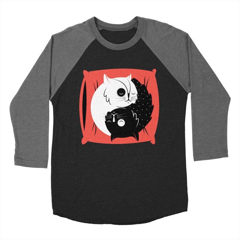 Zen cats Women's Baseball Triblend T-Shirt by marcelocamacho's Artist Shop