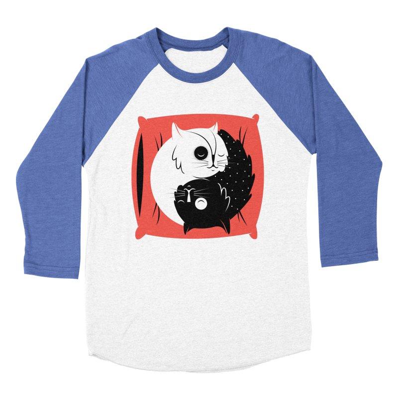 Zen cats Men's Baseball Triblend T-Shirt by marcelocamacho's Artist Shop