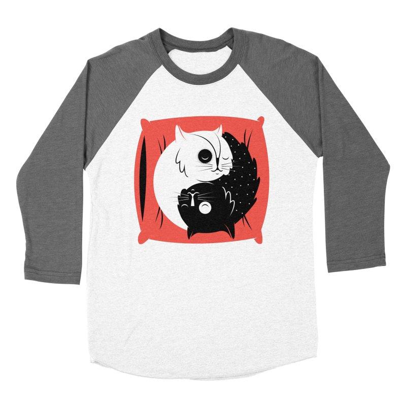 Zen cats Men's Baseball Triblend Longsleeve T-Shirt by marcelocamacho's Artist Shop