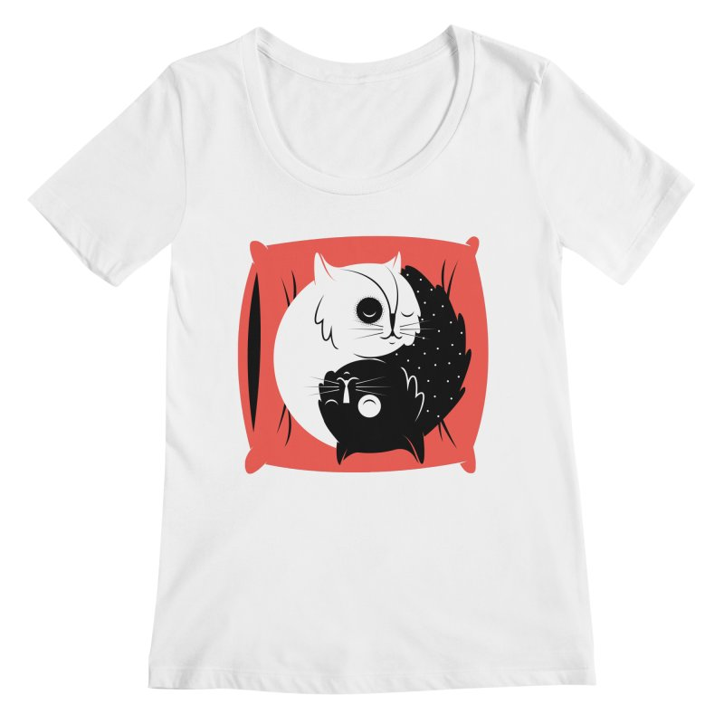 Zen cats Women's Scoopneck by marcelocamacho's Artist Shop