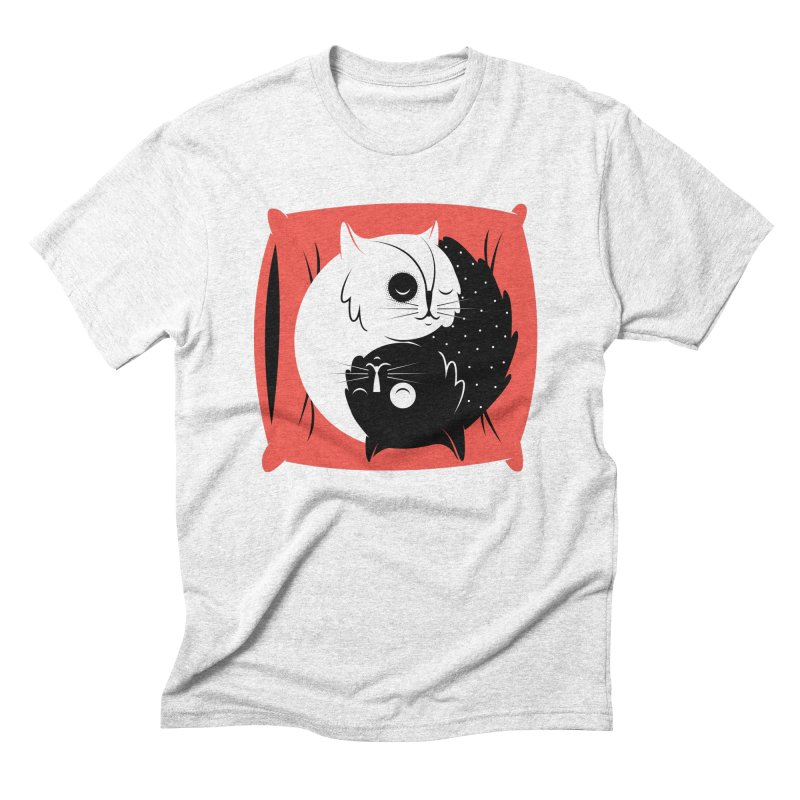 Zen cats Men's Triblend T-shirt by marcelocamacho's Artist Shop