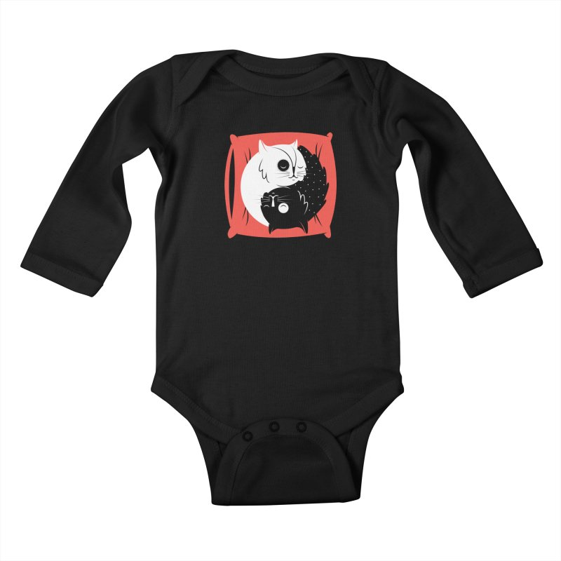 Zen cats Kids Baby Longsleeve Bodysuit by marcelocamacho's Artist Shop