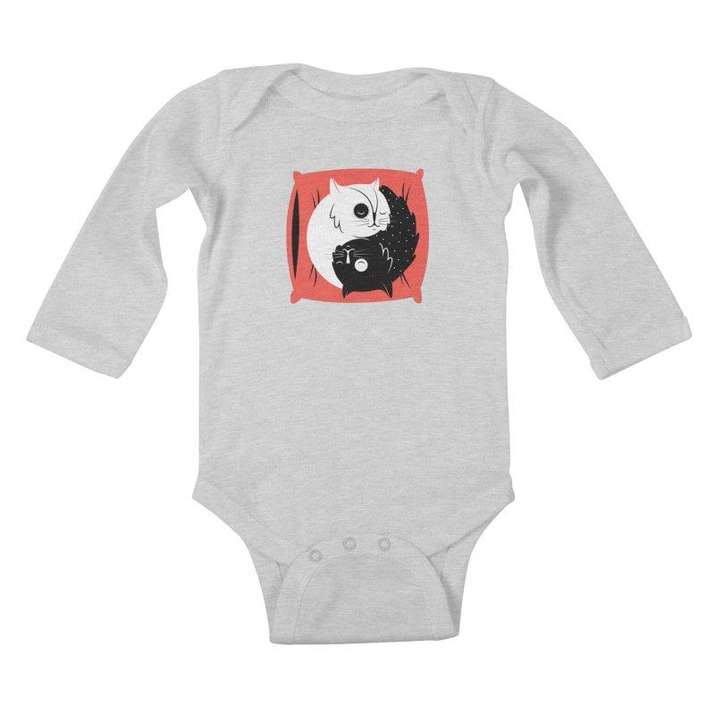 Zen cats Kids Baby Longsleeve Bodysuit by marcelocamacho's Artist Shop
