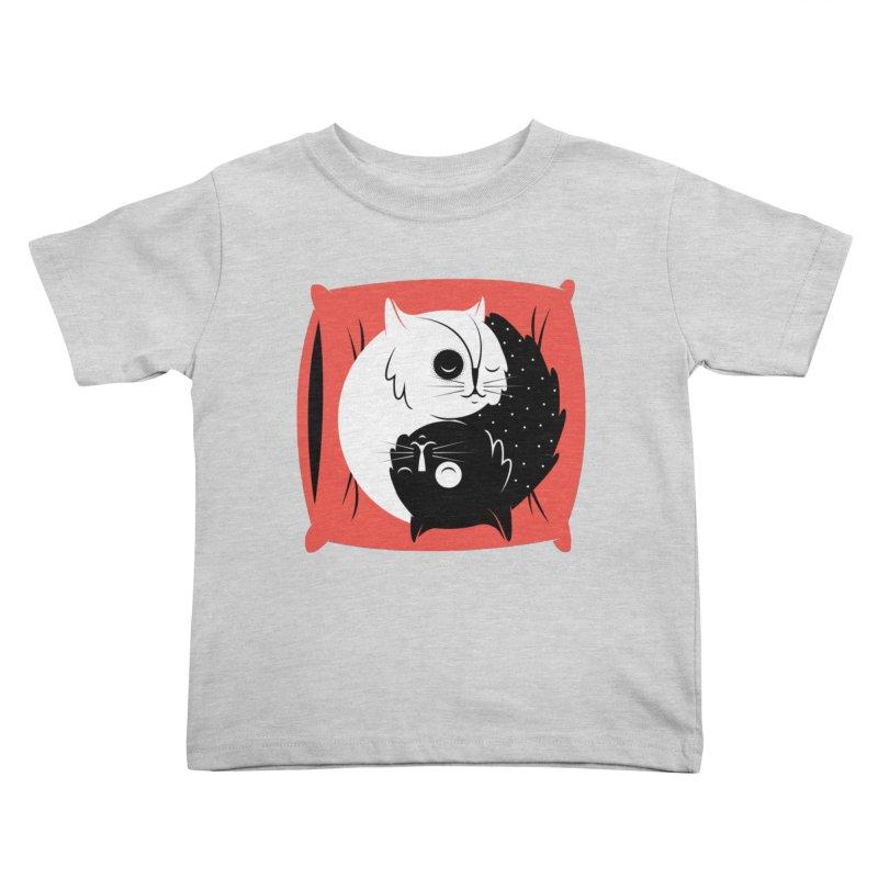 Zen cats Kids Toddler T-Shirt by marcelocamacho's Artist Shop