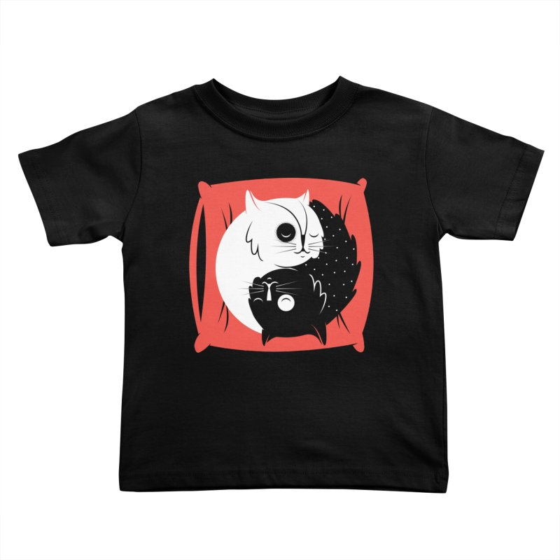 Zen cats Kids Toddler T-Shirt by marcelocamacho's Artist Shop